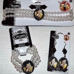 Disney Villains Cruella jewelry 3pc Set